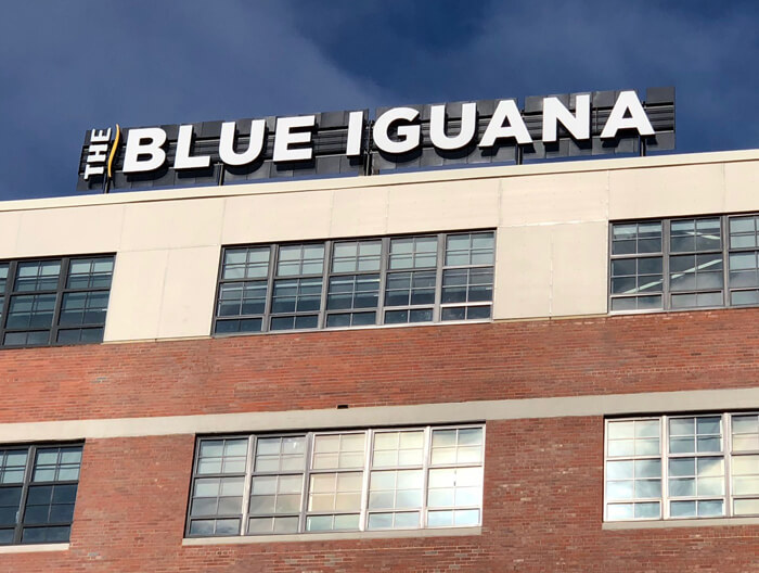The Blue Iguana Channel Letters
