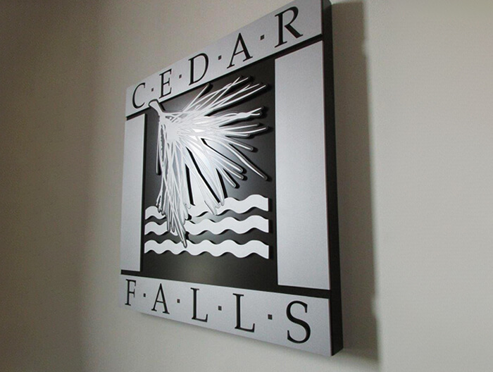 Cedar Falls Public Safety Interior Sign