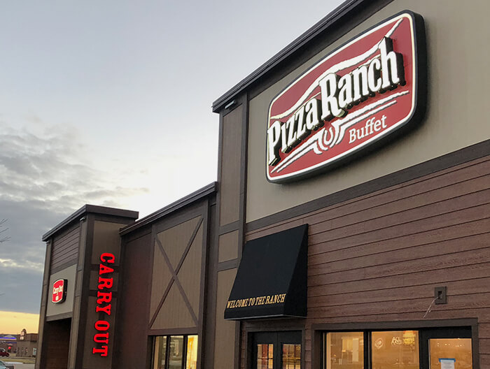 Pizza Ranch Channel Letters