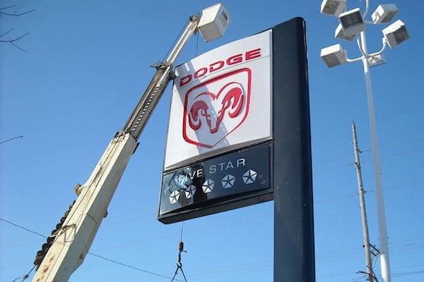 Service Dodge Pole Sign