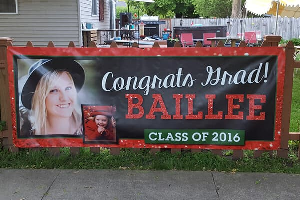 Banner for a Graduation