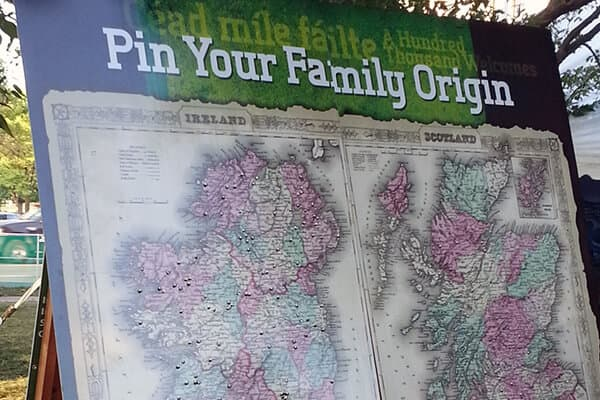 Temporary Irish Fest Origin Board