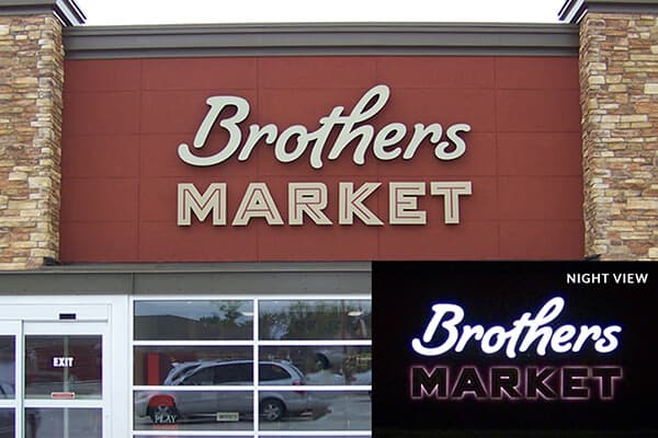 Channel Letters Brothers Market