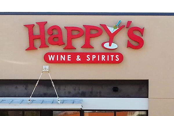 Channel Letters Happy's Wine & Spirits