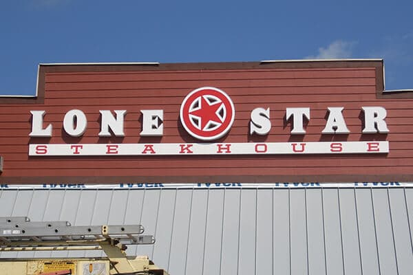 Channel Letters Lone Star Steakhouse