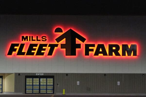 Channel Letters Mills Fleet Farm
