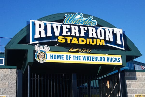 Channel Letters Riverfront Stadium