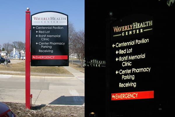 Exterior Directional Waverly Health Center