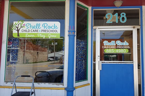 Exterior Vinyl Shell Rock Child Care