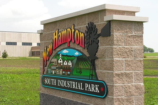 Monument Signs New Hampton Industrial Park