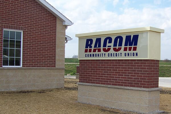 Monument Signs Racom Community Credit Union