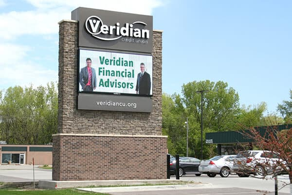 Monument Signs Veridian Credit Union