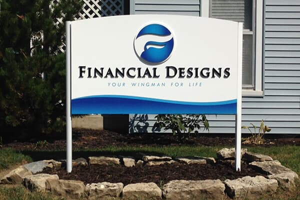 Post Signs Financial Designs