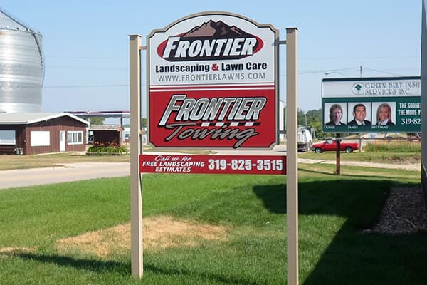 Post Signs Frontier Landscaping