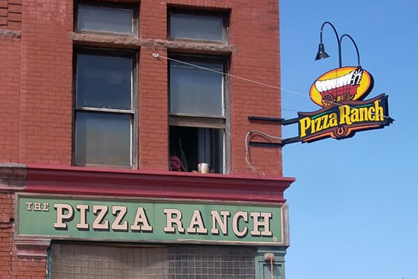 Projection Signs Pizza Ranch 1