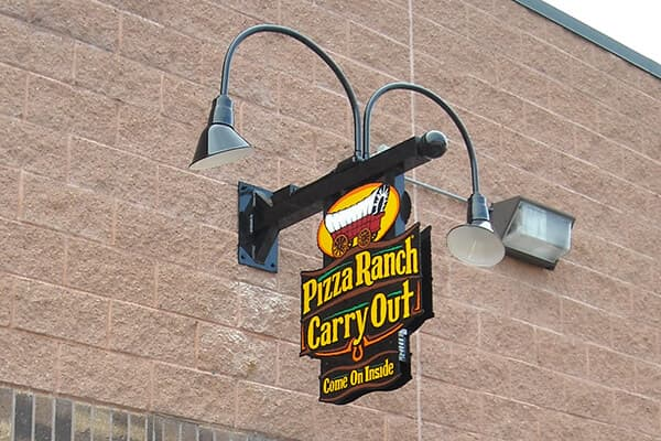 Projection Signs Pizza Ranch Carry Out