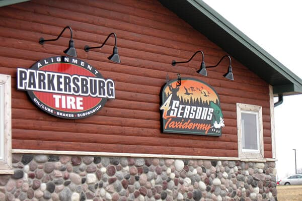 Wall Signs Parkersburg Tire -  4 Seasons Taxidermy