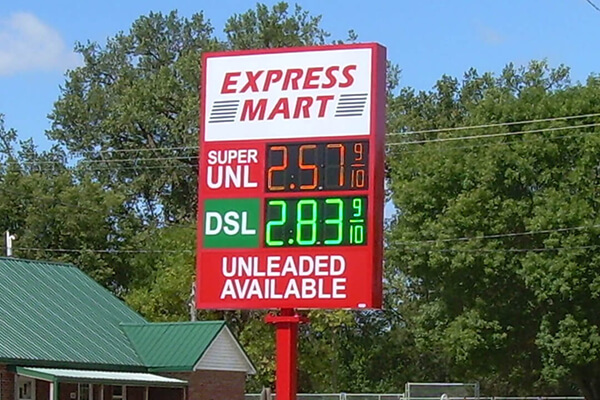 Express mart - Gas Price