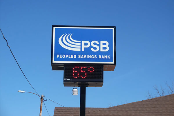 Peoples Savings Bank - Time & Temp