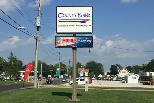County Bank - 16MM 54x144 Matrix