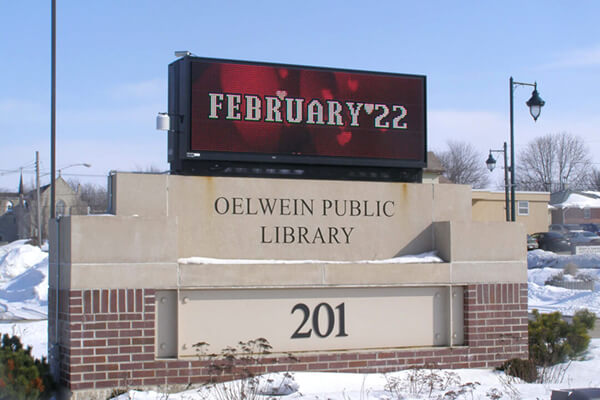 Oelwein Public Library - 16MM 48x144 Matrix