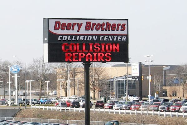 Deery Brothers Collision Center - Monochrome Red