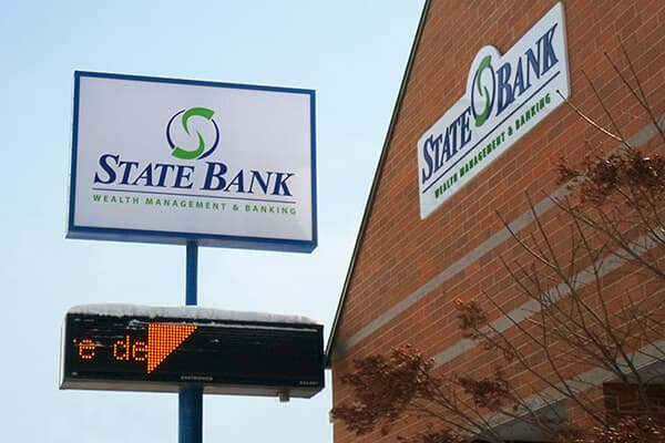 Banking\Financial State Bank Pole & Wall Sign