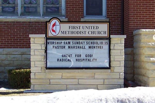 Churches First United Methodist Monument Sign
