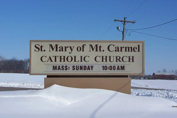 Churches St. Mary of Mt. Carmel Monument Sign
