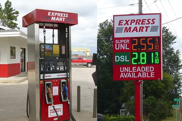 Convenience Stores Express Mart Pump & Price Signs