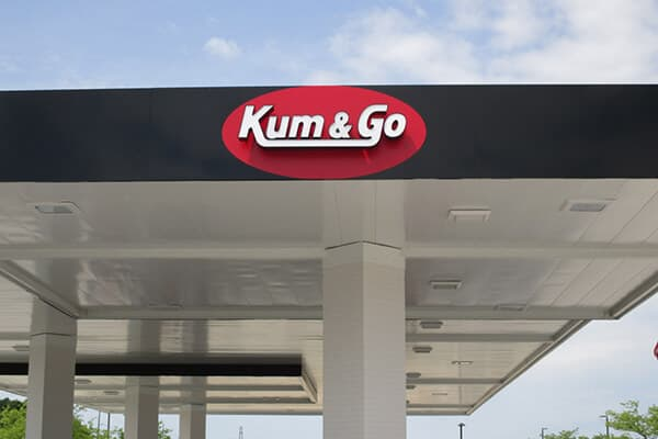Convenience Stores Kum & Go Gas Channel Letters