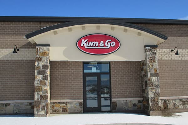 Convenience Stores Kum & Go Wall Sign