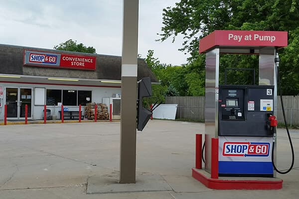 Convenience Stores Shop & Go Pump & Wall Signs