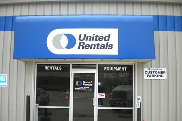 Corporate United Rentals Awning
