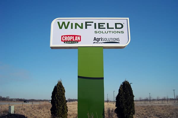 Corporate Winfield Pole Sign