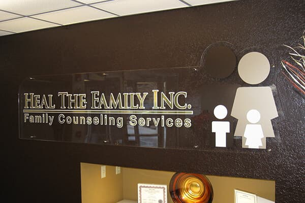 Healthcare Heal the Family Interior Sign