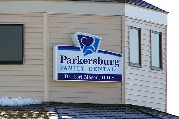 Healthcare Parkersburg Family Dental Wall Sign
