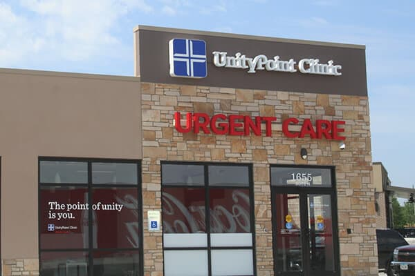 Healthcare Unity Point Clinic Channel Letters