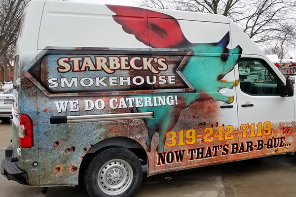 Restaurants Starbeck's Smokehouse Partial Wrap