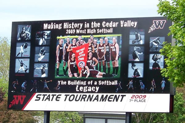 Schools & Campuses West High Billboard