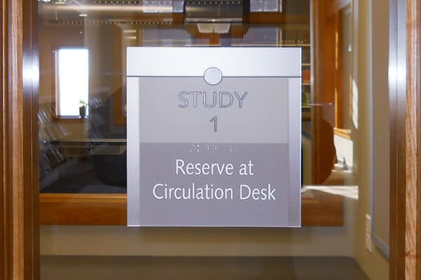 Interior Identification Circulation Desk