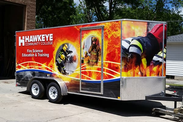 Full Wraps Hawkeye CC Fire Trailer