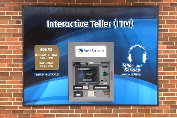 Printed Graphics First Security ATM