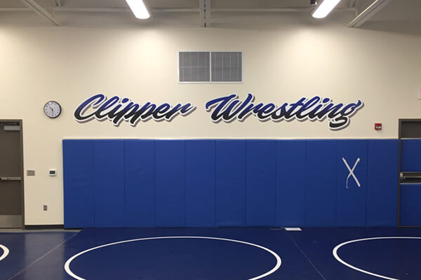 Printed Graphics Clipper Wrestling