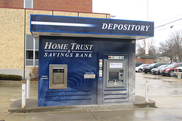 Printed Graphics Home & Trust ATM Wrap Graphics