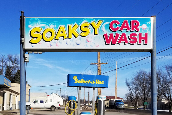 Printed Graphics Soaksy Car Wash