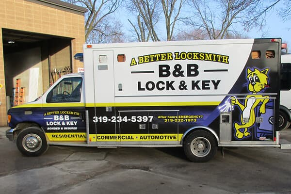 B & B Lock & Key Partial Wrap