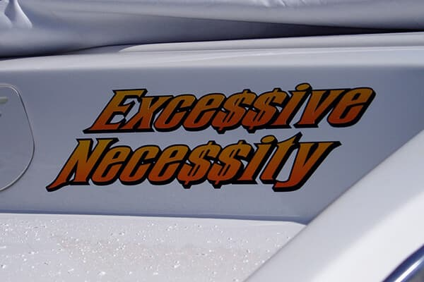 Vehicle Decals Boat Lettering