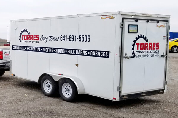 Vehicle Decals Torres Construction