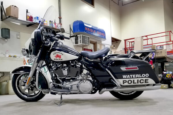 Vehicle Decals Waterloo Police Motorcycle